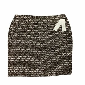 Calvin Klein Sequin Tweed Metallic Mini Skirt